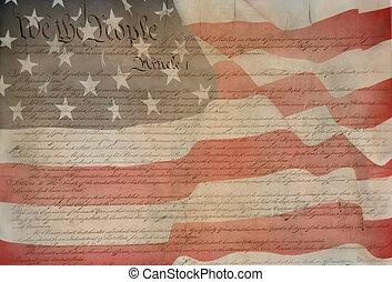 Constitution of USA  - patriotic background