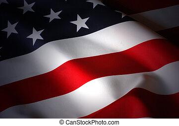 US Flag - patriotic background
