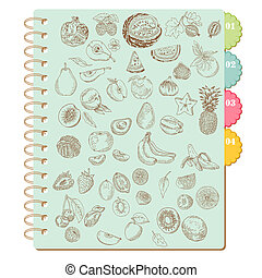Scrapbook Design Elements -Set of Various Fruits - in vector