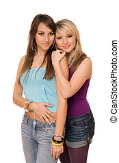 Two beautiful young ladies