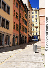famous croix rousse district in Lyon - Lyon city, famous...
