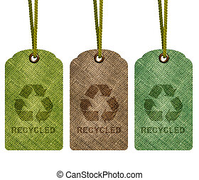 Eco Recycle Tag - Eco recycle tag isolated on white...
