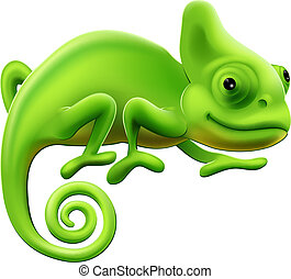 Cute Chameleon Illustration - An illustration of a cute...