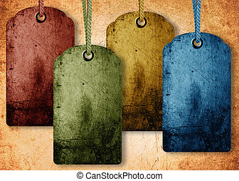 grunge price tag background, sale conceptual image.