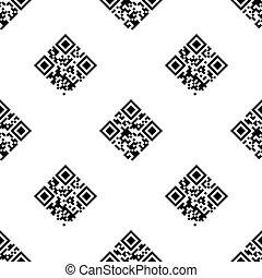 QR Code seamless pattern