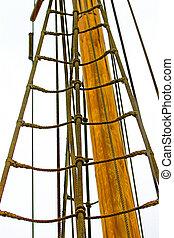 Sailing tackles of an ancient sailing vessel
