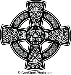 celtic cross2 - Vector image Celtic cross with patterns