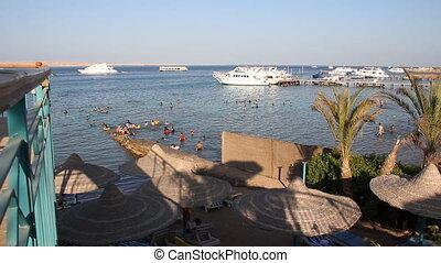 Red Sea coast of Hurghada Egiped