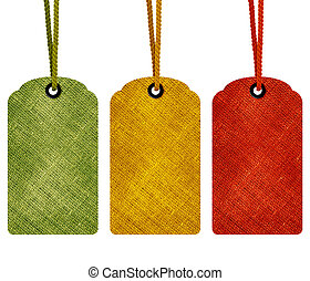 Blank price tags isolated on white background with copy...