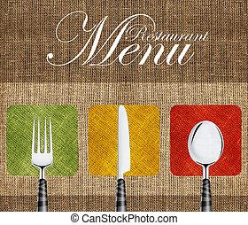 restaurante, menú