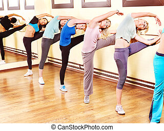 Women in aerobics class - Women group in aerobics class