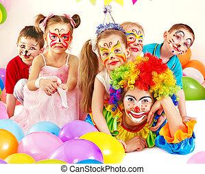 niño, cumpleaños, fiesta