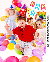 Child birthday party . - Child happy birthday party .