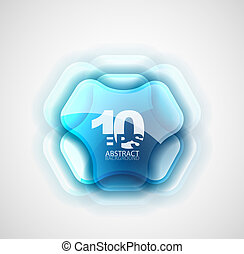 Futuristic abstract symbol - Abstract technological glass...