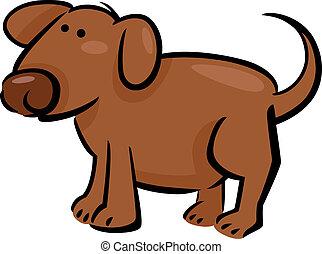 caricatura, doodle, cão