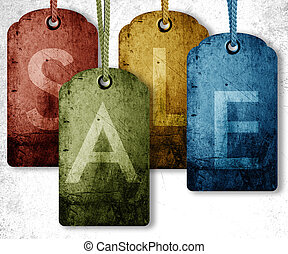 grunge price tag background, sale conceptual image