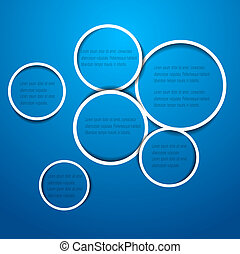 Abstract circles for web design