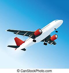 Vector passenger airliner