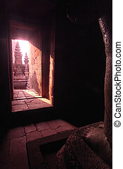 Prambanan Temple Chamber, Java, Indonesia - Doorway leading...