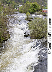 River Dee rapids at Llangollen