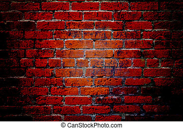 Red Brick Wall Texture Background - Red brick wall...