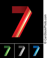 Numeral of paper tape - 7