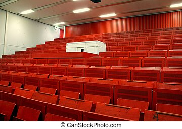 red lecture hall