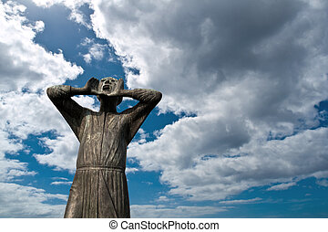 """The Crier"" (Der Rufer) Sculpture in Berlin - ""I wander..."
