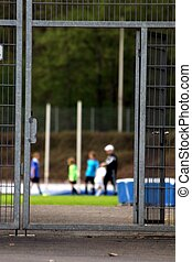 kids sport training at the stadion