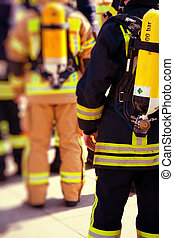 Firefighters prepared to work