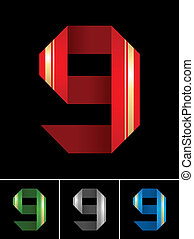 Numeral of paper tape - 9