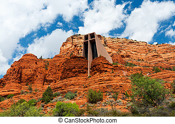 Chapel of the Holy Cross - Cross shaped church built into...