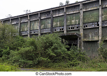 abandoned factory building, mining sector in Asturias, Spain...