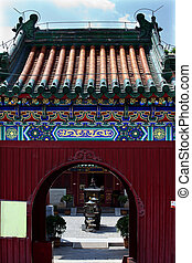 Guanghua Buddha Temple Entrance Beijing China