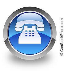 teléfono, brillante, icono
