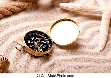 Sand and compass
