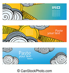 weather vector information banners
