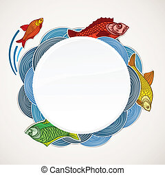 Fish vector template Ready for a text