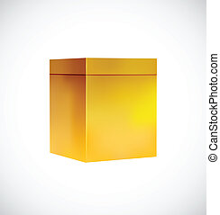 Vector golden gift box