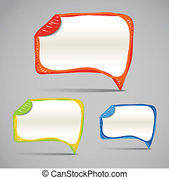 abstract talking bubbles - Background of abstract talking...
