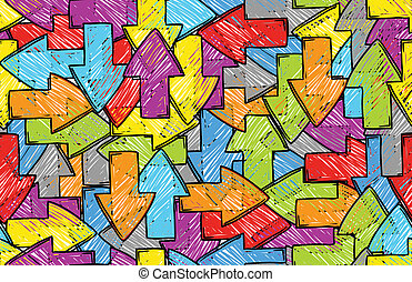 Arrow seamless colorful background
