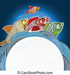 Fish menu vector template