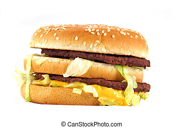 Fast food meal isolated on a white background