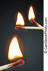 Flaming match set