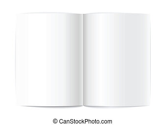 Blank book pages vector template