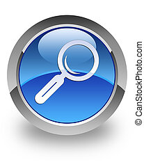 Search glossy icon - search magnifying glass icon on glossy...