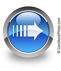 """More arrow"" glossy icon - ""more arrow"" icon on glossy blue..."
