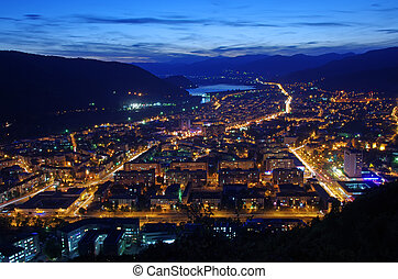 City by night - Piatra Neamt city by night in Romania