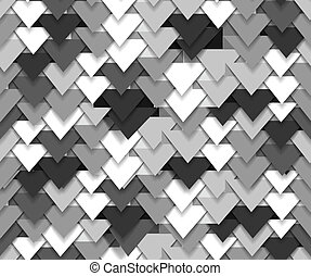 grey abstract triangle waves - Seamless background of grey...
