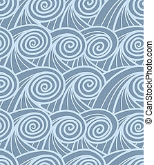 curled abstract blue waves